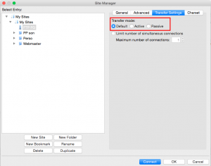 FileZilla - 5 transfer settings